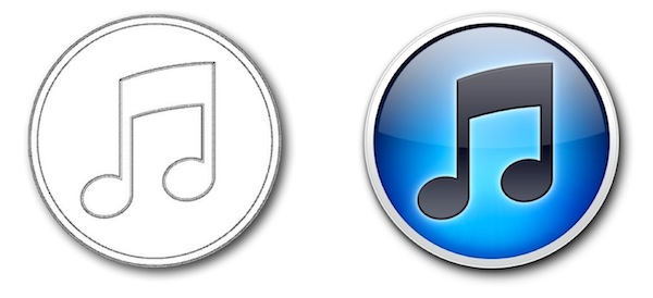 iTunes 10 icon design patent