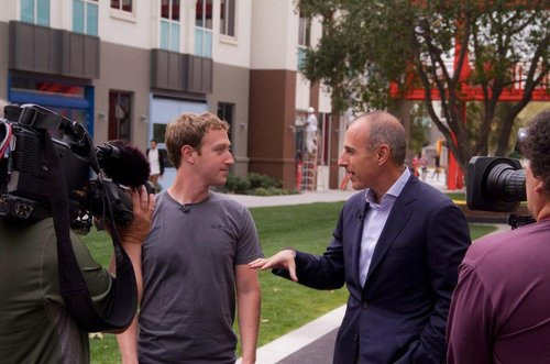Mark Zuckerberg & Matt Lauer