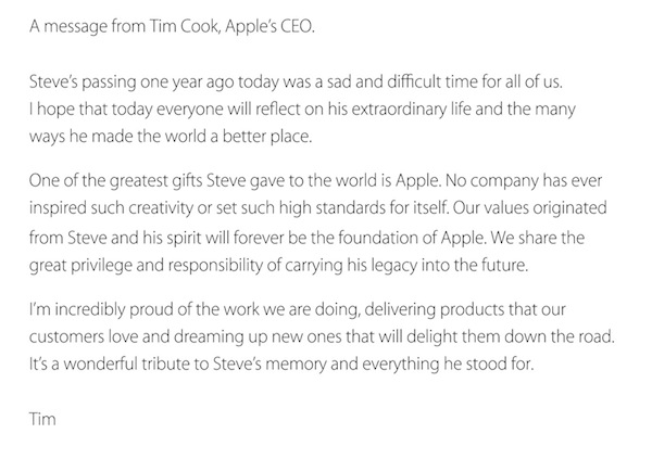 Tim Cook on Steve Jobs