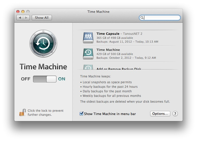 Time Machine System Preferences Last Backup