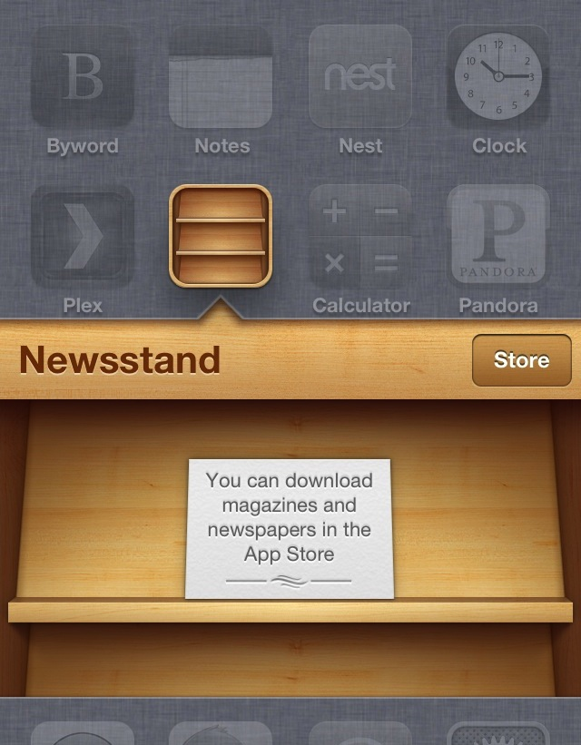 Empty Newsstand