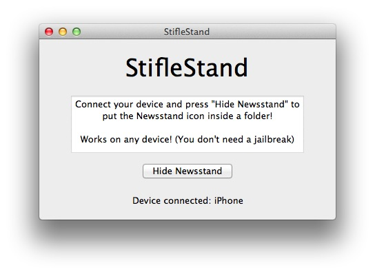 StifleStand Puts Newsstand in a Folder