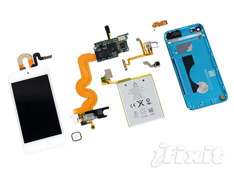 Apple packed the inside of the new iPod touch tight