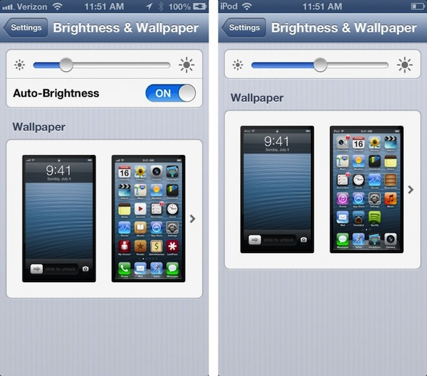 Ambient Light Sensor iPhone vs iPod Touch