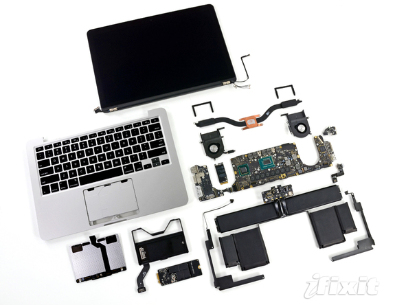 13 inch Retina MacBook Pro iFixit Teardown