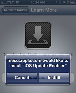 iOS Update Enabler