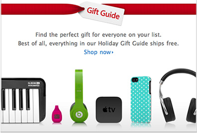 Apple's 2012 holiday gift guide