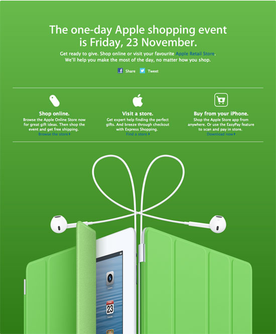 Apple Black Friday 2012