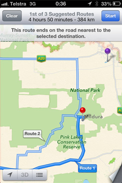 Apple's Maps routes Australia drivers about 50 miles off course in the wilderness