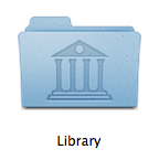 The Library Folder icon.