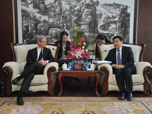 Tim Cook China Visit