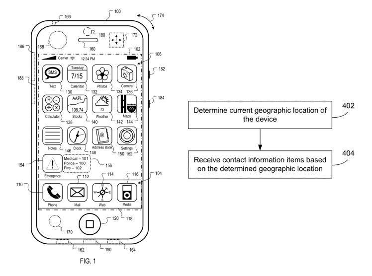 Apple Emergency Services Location Patent