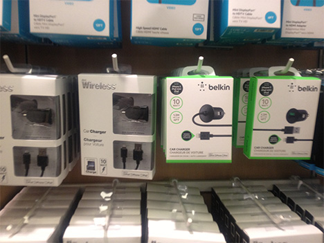 Lightning-compatible car chargers now in Apple retail stores