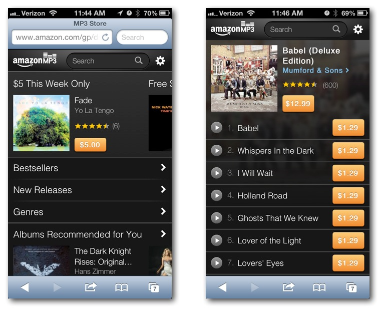 Amazon MP3 Store iPhone iPod touch