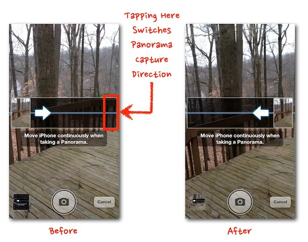 Apple iOS Panorama Camera Direction Tip