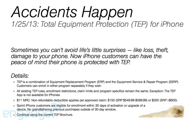 Sprint iPhone Total Equipment Protection
