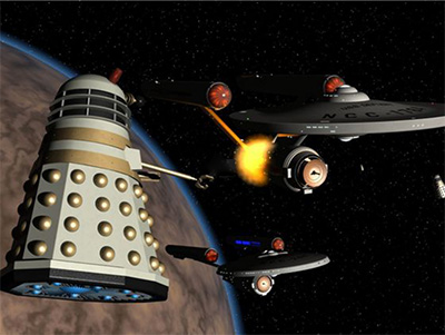 Star Trek vs Doctor Who Kickstarter to Space