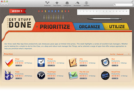 Apple's new productivity sale at the Mac App Store
