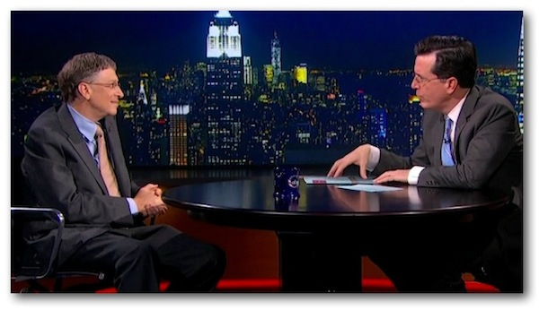 Bill Gates Colbert Report Steve Jobs