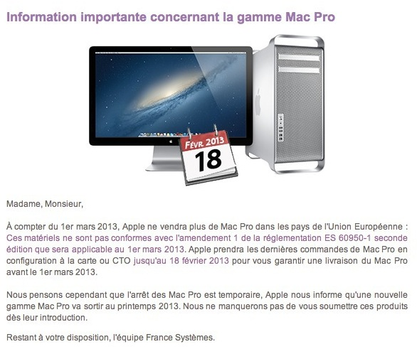 New Mac Pro Spring France