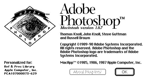 Grab the Free Source Code to 1990's Adobe Photoshop 1.0.1