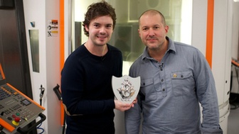 The BBC Shows off Jonathan Ive and the Blue Peter badge