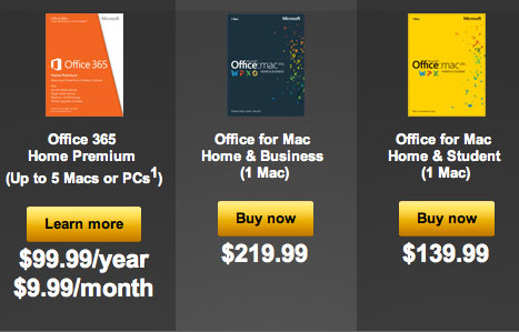 Office for Mac 2011 Price Hike