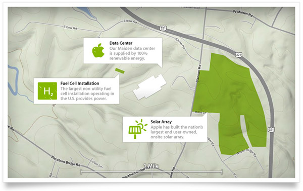 Apple Data Center Map