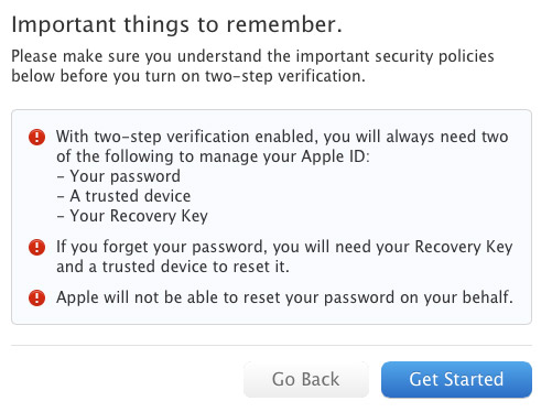 Two Step Authentication