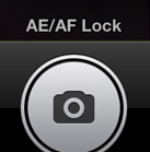 The AE/AF Lock indicator at the bottom of the image.