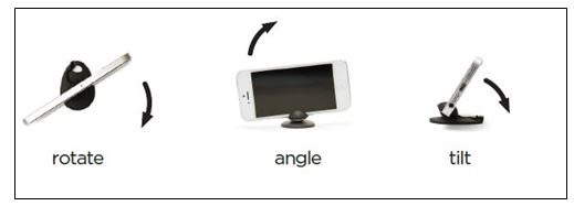 Tiltpod, a Key Fob-Sized Stand for iPhone