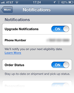 The Apple Store app now alerts you when you're eligible for a new iPhone