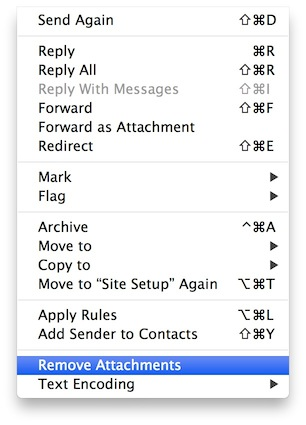 Remove Email Attachments Apple Mail