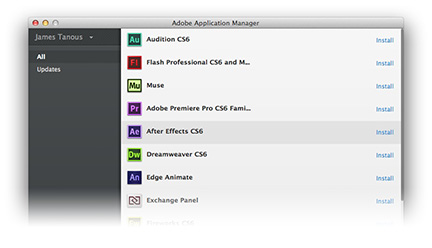 Adobe's application manager handles app installs