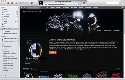 Stream Daft Punk's New Album Free on iTunes