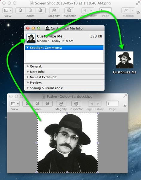 How to Assign Custom Icons to Desktop Files & Folders in OS X