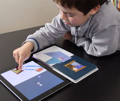 Bridging Book for Kids Marries Real Book to iPad