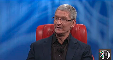 Apple CEO Tim Cook speaking at the D11 Conference