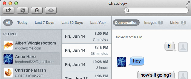 Chatology Offers Search & Filtering Options for Apple's Messages & iChat
