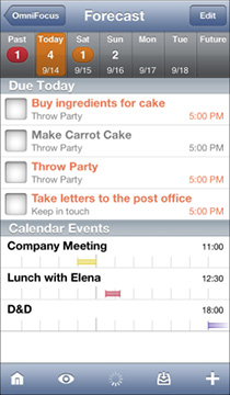 OmniFocus handles all of your tasks without breaking a sweat