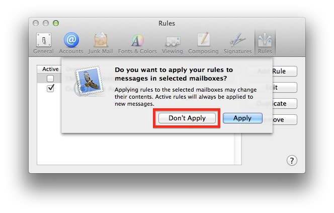 Apple Mail Auto Reply