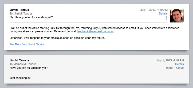 "How to Create ""Out of Office"" Auto Email Replies with OS X ..."