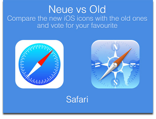 Compare iOS 7 Icons to iOS 6 Icons at Neue vs. Old