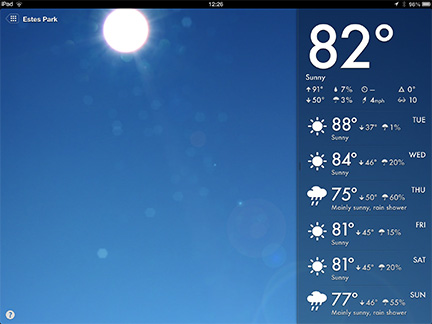 Magical Weather for the iPad