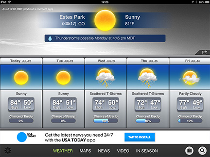 The Weather Channel for iPad