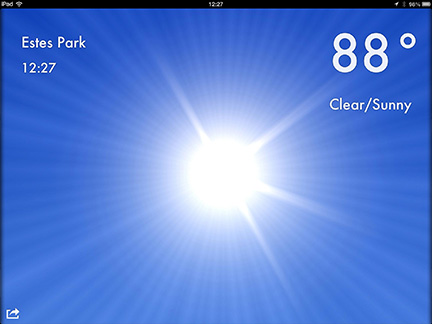 Weather 2x for the iPad and iPhone