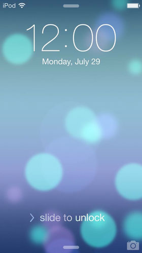 iOS 7 beta 4 Unlock Screen