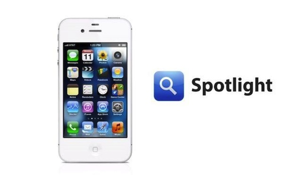 iPhone next to a Spotlight logo