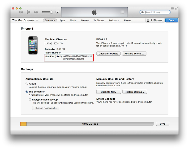How to Find iDevice UDID Locked