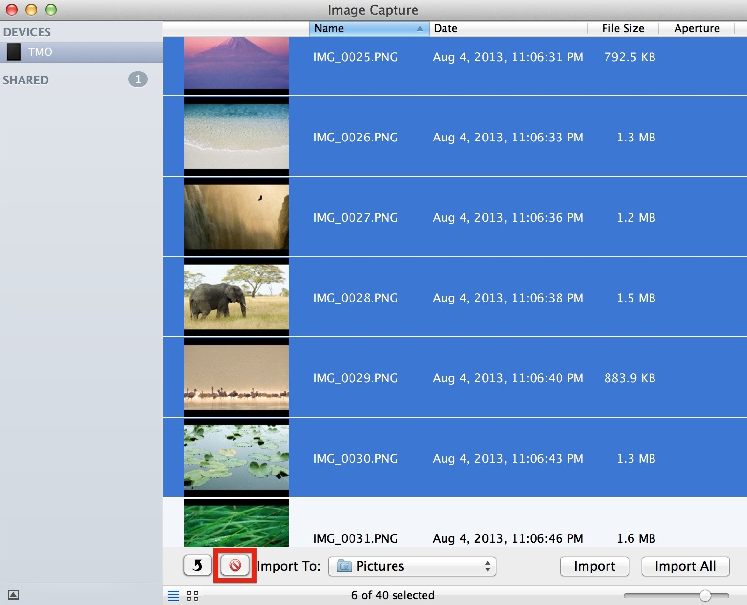 How to Bulk Delete iPad Photos Using Image Capture